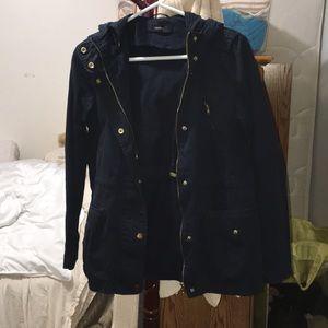 Navy blue jacket with pockets